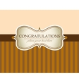 Greeting card in sepia color vector image vector image