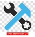 Hammer And Wrench Eps Icon vector image vector image