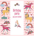 happy birthday holiday card with red and yellow vector image vector image