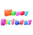 Happy birthday isolated on white background vector image vector image