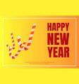happy new year candy stick concept background vector image