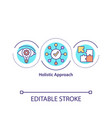 holistic approach concept icon