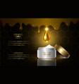 honey cream vector image vector image