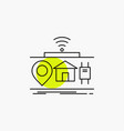 iot gadgets internet of things line icon vector image