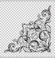 isolate corner ornament in baroque style vector image vector image