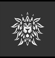 lion head logo template vector image