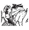 maid vintage vintage vector image vector image