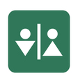 Man and Woman Toilet icon vector image vector image