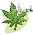 marijuana cartoon character smoking a joint blowin vector image vector image