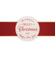 merry christmas realistic circle banner vector image vector image