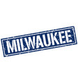 milwaukee blue square stamp vector image vector image