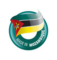 mozambique flag on a white vector image