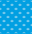 nature berries pattern seamless blue vector image vector image