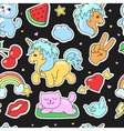 Patch badges stickers seamless pattern vector image vector image