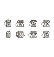 phone icon set telephone call symbol vector image vector image