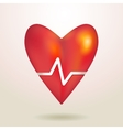 -Red glossy shiny three-dimensional heart 3d on a vector image