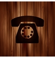 Retro telephone web icon vector image vector image