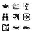 right way icons set simple style vector image vector image