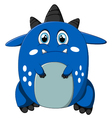 sad monster cartoon vector image