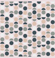 seamless abstract pattern with circles and vector image