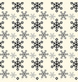 seamless pattern of delicate white snowflakes on vector image vector image