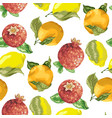 seamless pattern with juicy summer fruits like vector image
