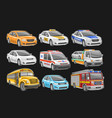 set cars vector image