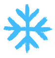 snowflake 05 from set 05 drawing of a snow flake vector image