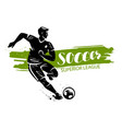 soccer banner sport concept vector image vector image