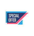 special offer isolated sticker vector image vector image