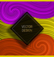 square frame on colorful dynamic background vector image