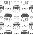 Surfing Seamless pattern with surfing glass vector image vector image