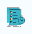 todo task list check time flat icon green and vector image