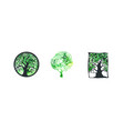 tree logo watercolor collection vector image vector image