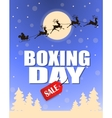 Vintage Boxing Day design vector image