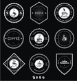 Vintage White Coffee Badges vector image vector image