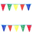 wax crayon party bunting isolated on white vector image vector image
