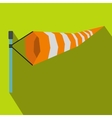 Windsock icon in flat style vector image vector image