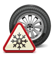 Winter Tire with Sign vector image vector image