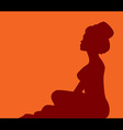 woman in turban silhouette vector image vector image