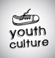 youth culture design vector image