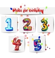 Dates for birthday vector image