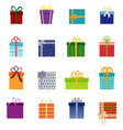 set of christmas gifts vector image
