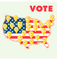 USA Election Map vector image