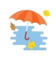 opened red umbrella vector image