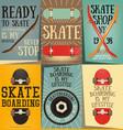 skateboard posters set vector image