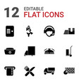 12 service icons vector image vector image