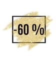 60 percent off discount promotion tag vector image