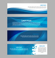 abstract set of 4 simply banner in blue color vector image vector image