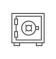 bank safe money deposit security box strongbox vector image vector image